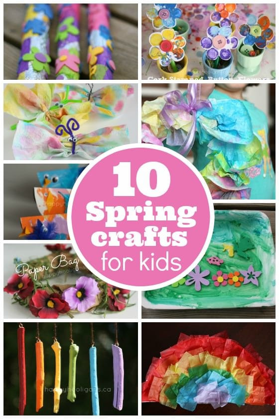 Best ideas about Toddlers Crafts For Spring . Save or Pin 10 Easy Spring crafts for toddlers and preschoolers Now.