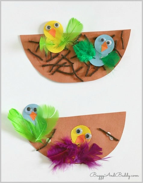 Best ideas about Toddlers Crafts For Spring . Save or Pin Spring Crafts for Kids Nest and Bird Craft Buggy and Buddy Now.