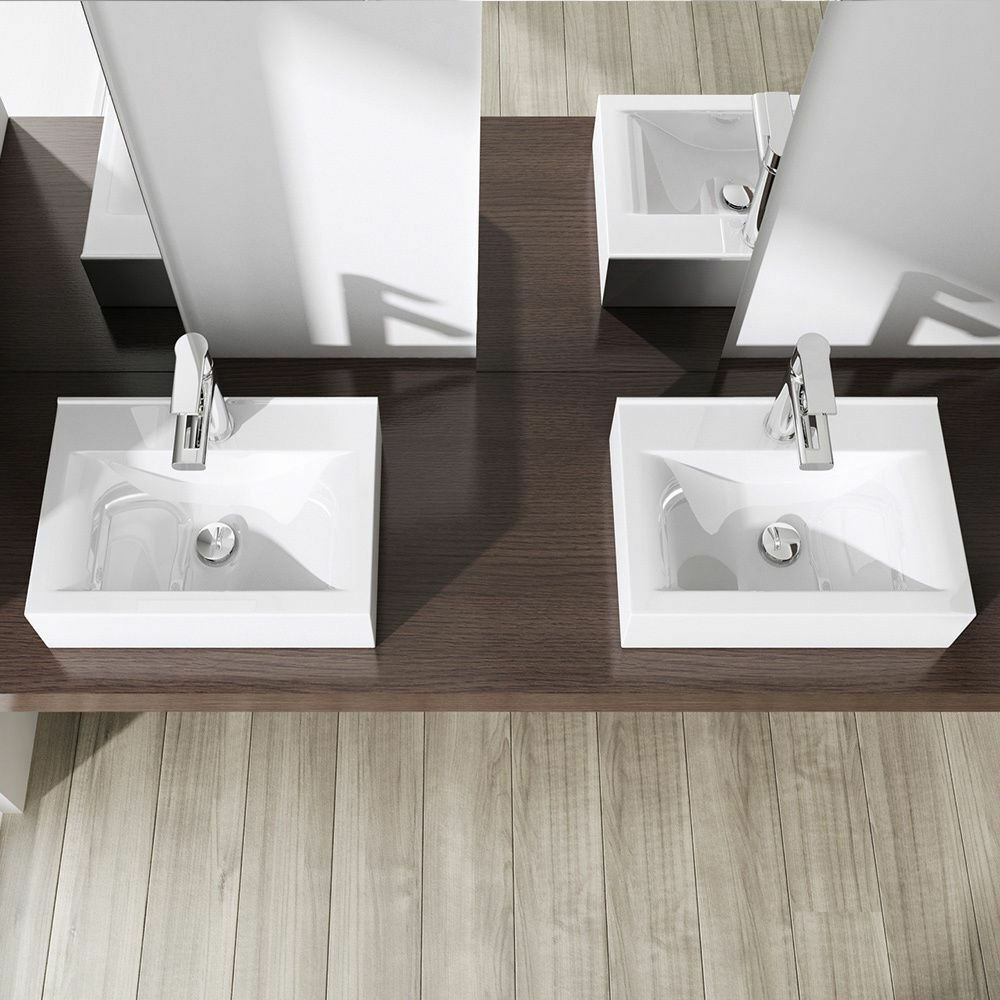 Best ideas about Top Mount Bathroom Sink . Save or Pin Durovin pact Square Bathroom Ceramic Wall Mounted Now.