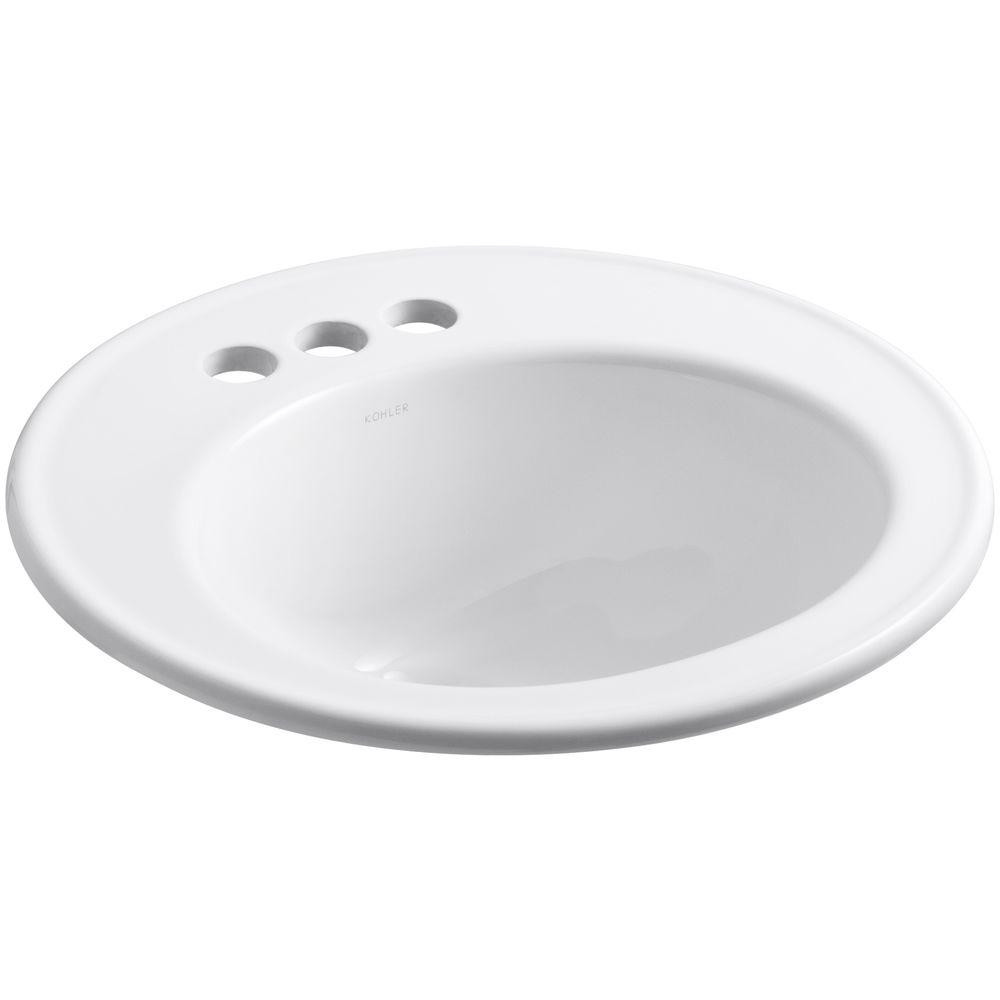 Best ideas about Top Mount Bathroom Sink . Save or Pin KOHLER Brookline Top Mount Vitreous China Bathroom Sink in Now.