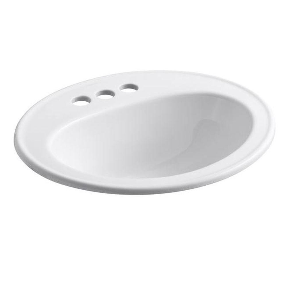 Best ideas about Top Mount Bathroom Sink . Save or Pin KOHLER Pennington Top Mount Vitreous China Bathroom Sink Now.