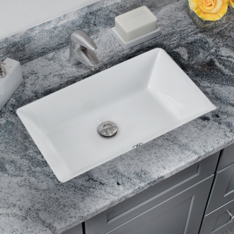 Best ideas about Top Mount Bathroom Sink . Save or Pin Soleil Glazed Vitreous China Rectangular Undermount Now.