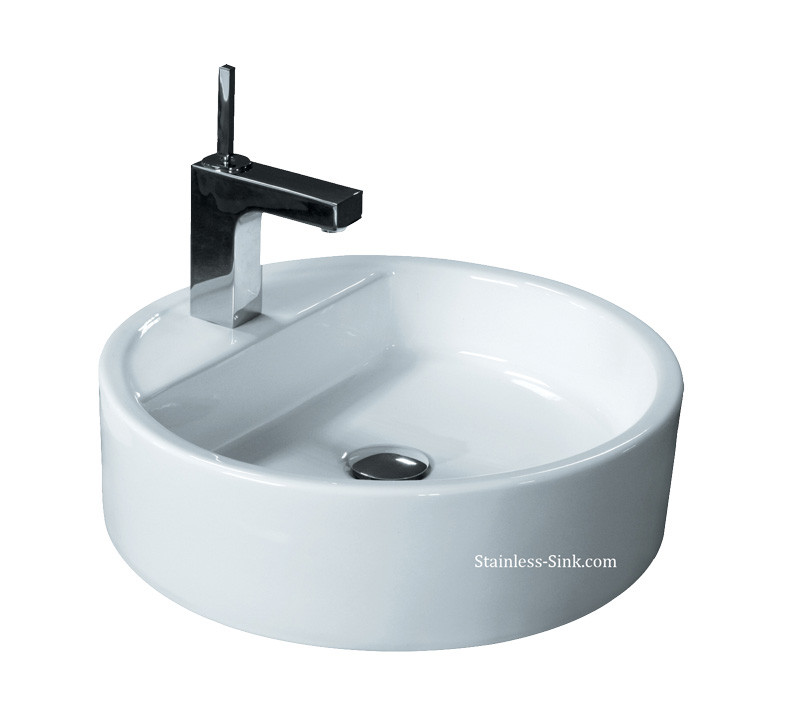 Best ideas about Top Mount Bathroom Sink . Save or Pin Sienna White Vessel Sink Top Mount Now.