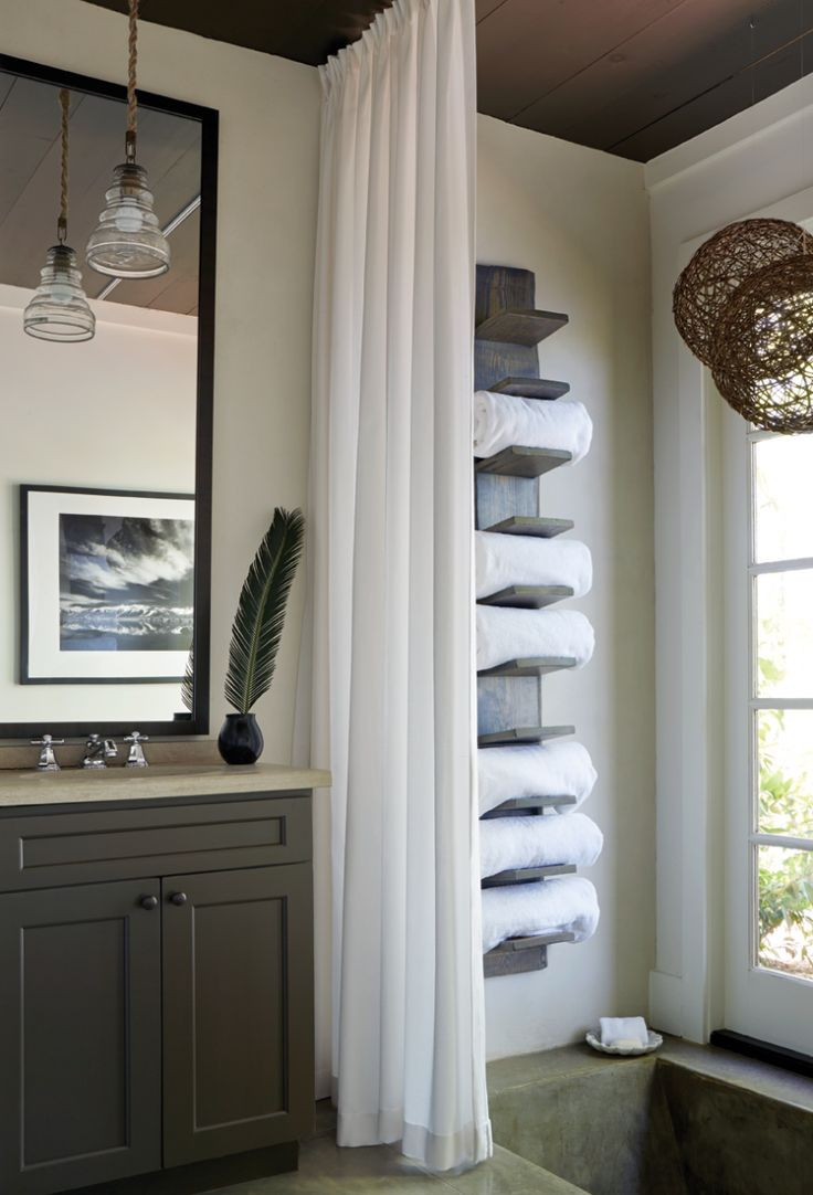 Best ideas about Towel Storage Ideas For Small Bathrooms . Save or Pin Best 25 Towel storage ideas on Pinterest Now.