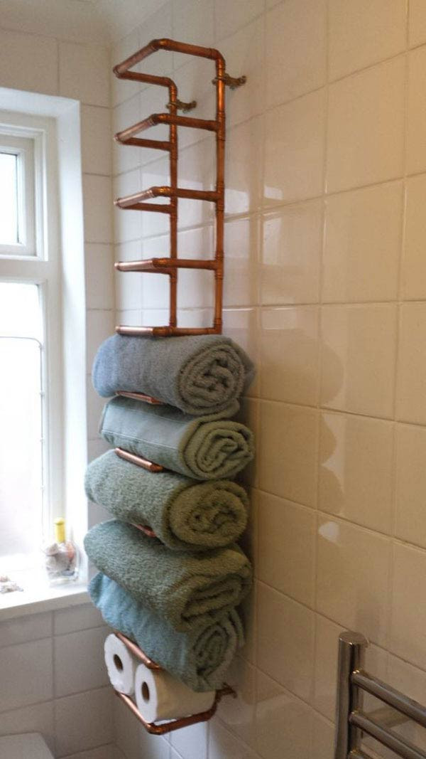 Best ideas about Towel Storage Ideas For Small Bathrooms . Save or Pin 30 Brilliant DIY Bathroom Storage Ideas Now.