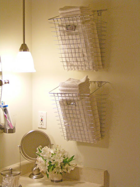 Best ideas about Towel Storage Ideas For Small Bathrooms . Save or Pin Bathroom Towel Storage 12 Quick Creative & Inexpensive Ideas Now.