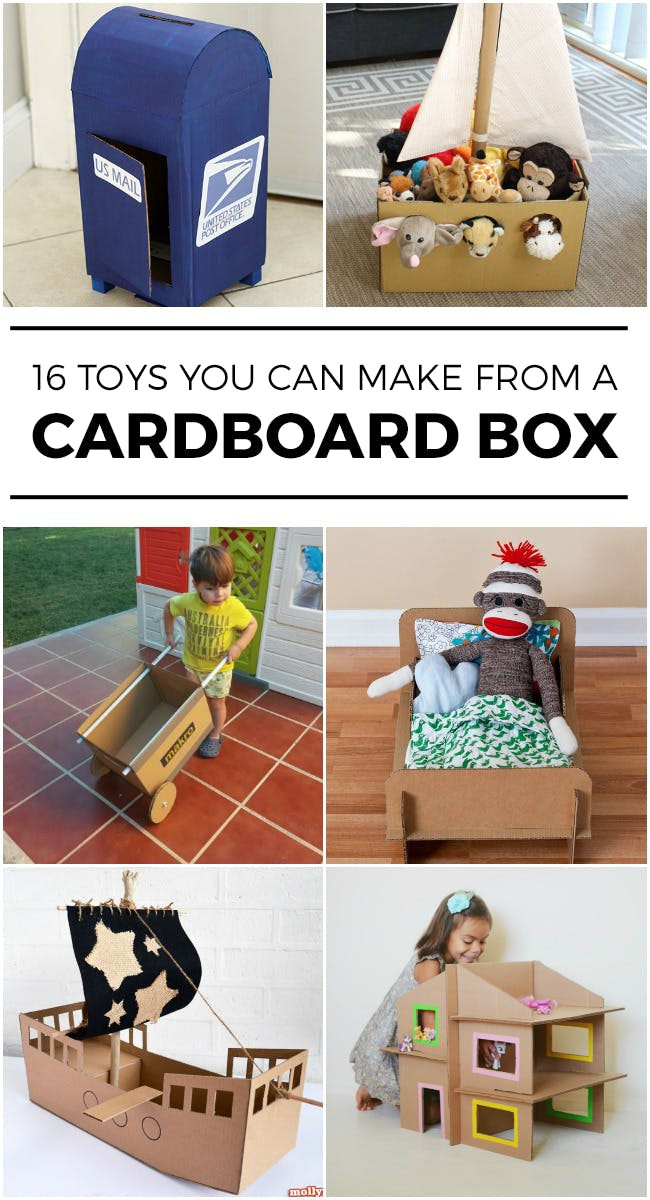 Best ideas about Toys Kids Can Make . Save or Pin 16 TOYS YOU CAN MAKE WITH AN EMPTY BOX Kids Activities Now.