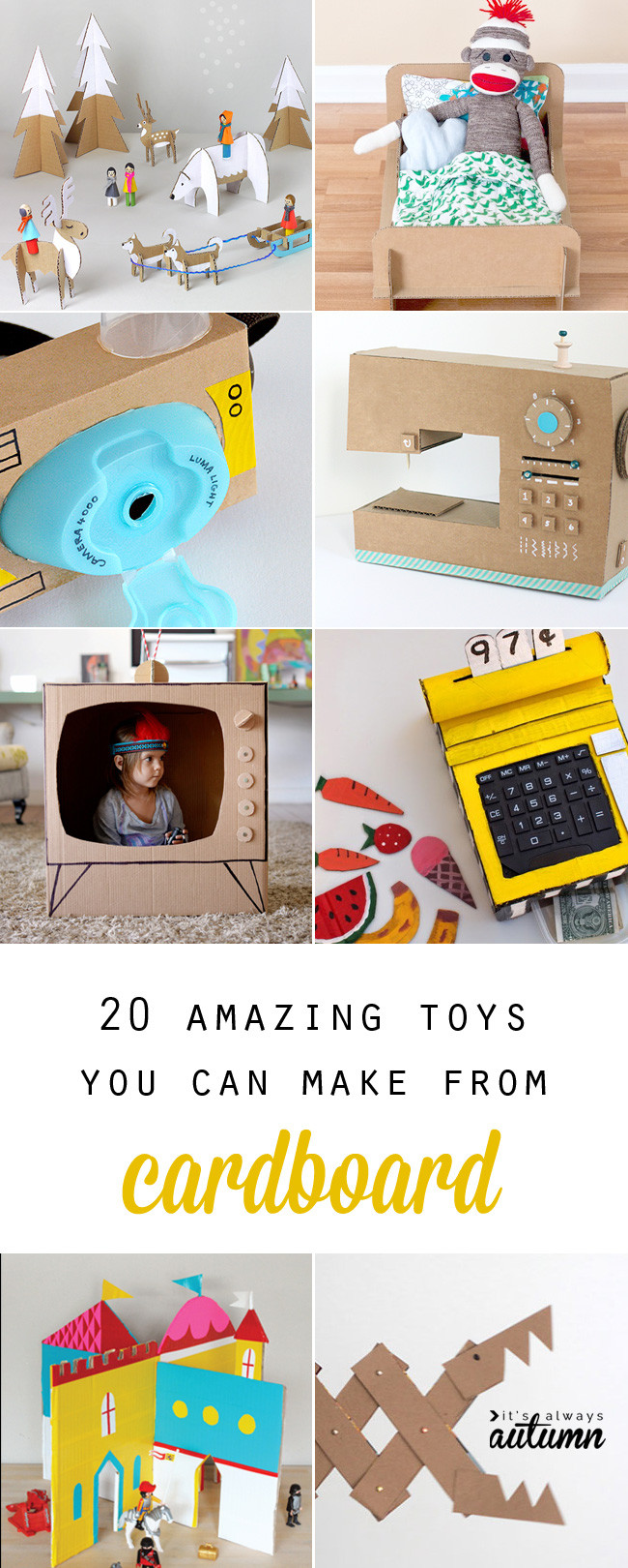 Best ideas about Toys Kids Can Make . Save or Pin 20 coolest toys you can make from cardboard It s Always Now.