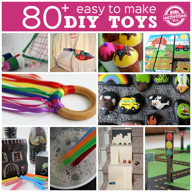 Best ideas about Toys Kids Can Make . Save or Pin 80 DIY TOYS TO MAKE Kids Activities Now.