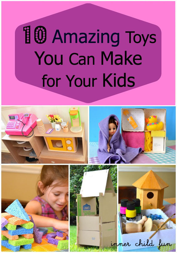 Best ideas about Toys Kids Can Make . Save or Pin 10 Amazing Toys You Can Make For Your Kids Inner Child Fun Now.