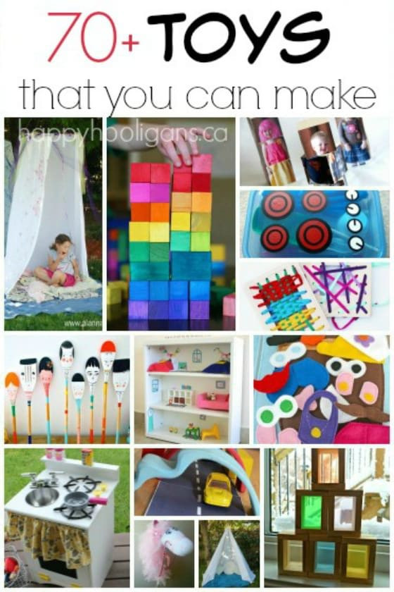 Best ideas about Toys Kids Can Make . Save or Pin 70 Homemade Toys to Make for Kids Happy Hooligans Now.
