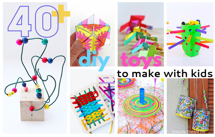Best ideas about Toys Kids Can Make . Save or Pin 40 The Best DIY Toys To Make With Kids Babble Dabble Do Now.