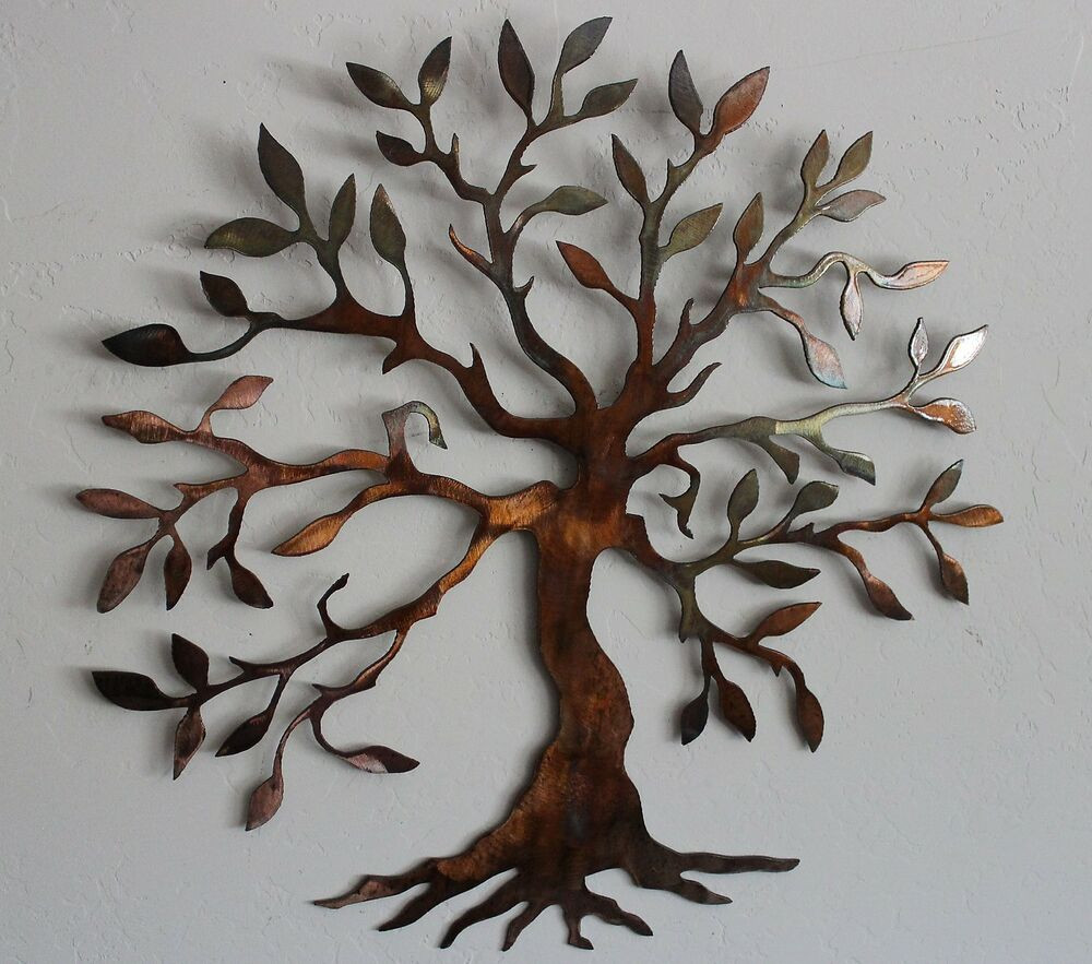 """Best ideas about Tree Of Life Wall Art . Save or Pin Olive Tree Tree of Life 40"""" Metal Wall Art Decor Now."""