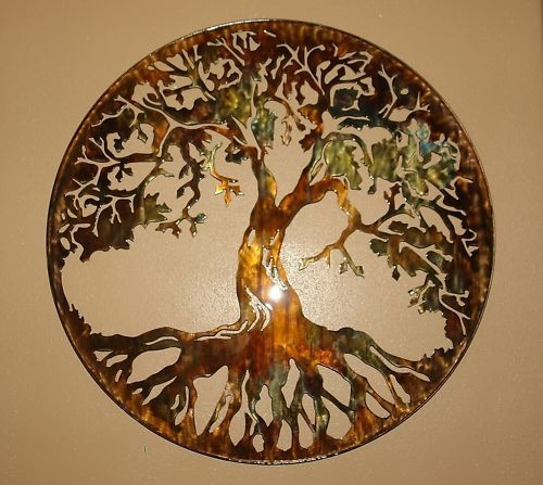 """Best ideas about Tree Of Life Wall Art . Save or Pin Tree of Life Metal Wall Art 24"""" Lit with AC powered LED Now."""