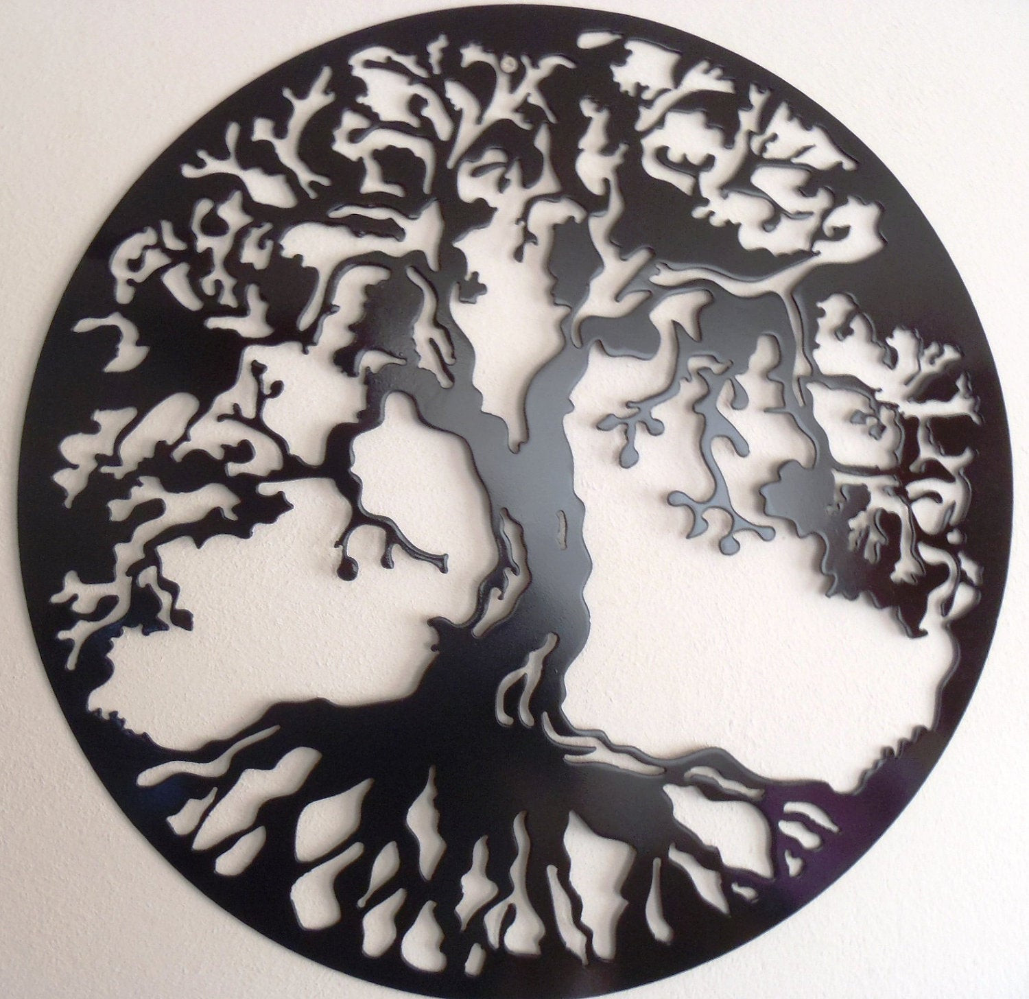 Best ideas about Tree Of Life Wall Art . Save or Pin Tree Life Wall decor Metal Art BLACK Now.