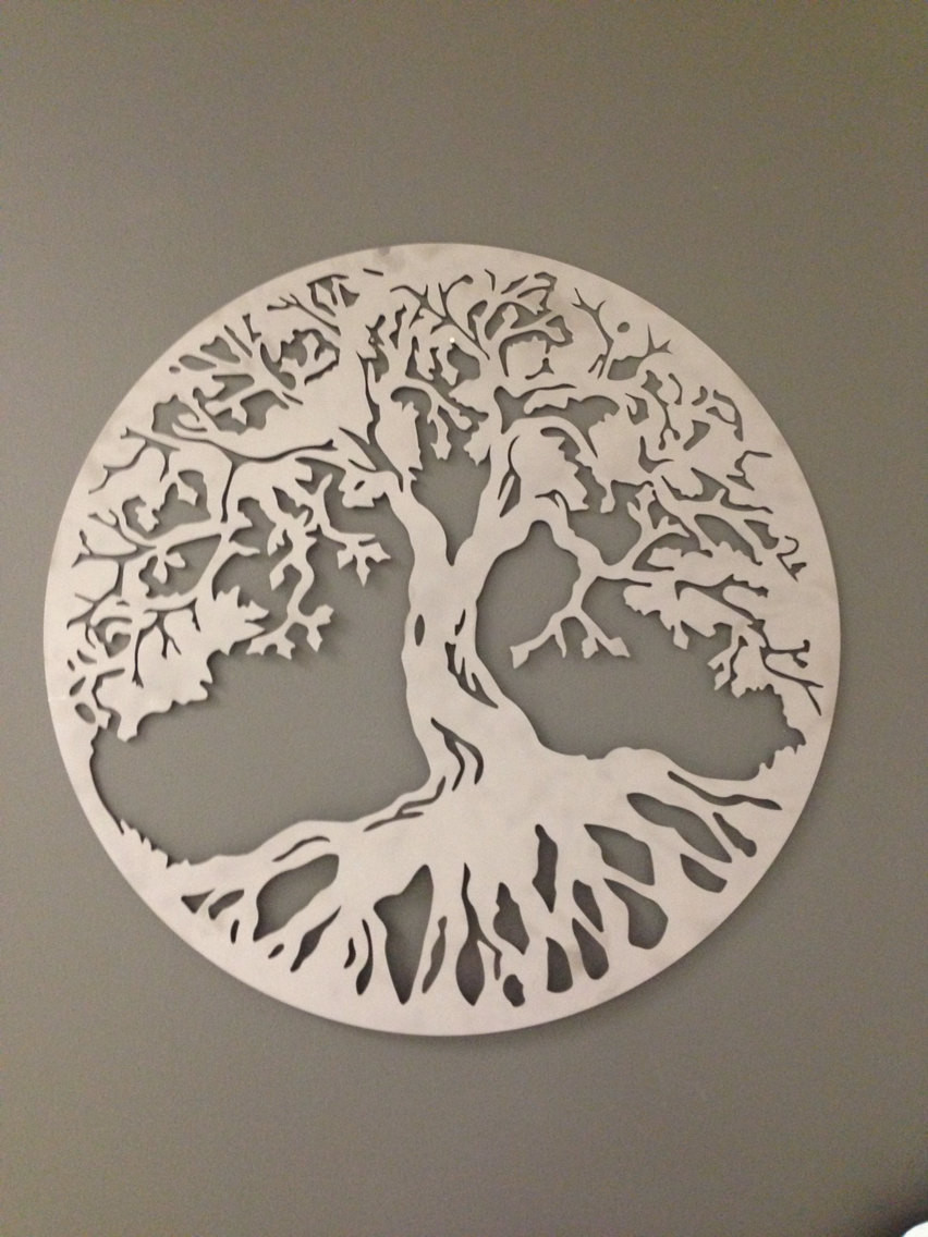 Best ideas about Tree Of Life Wall Art . Save or Pin Round Tree of Life industrial metal wall art 24 Now.