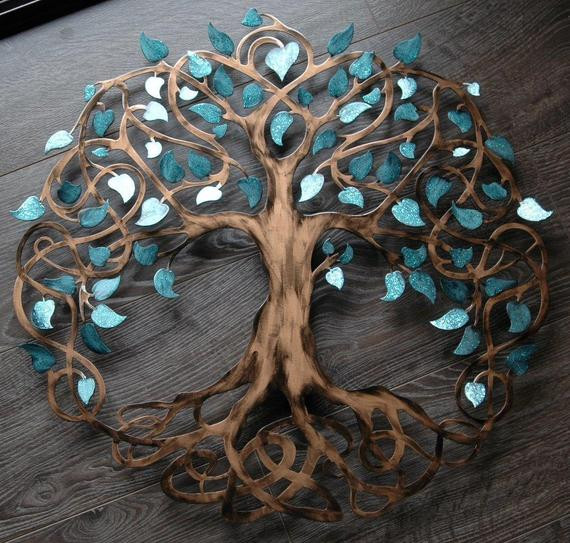 Best ideas about Tree Of Life Wall Art . Save or Pin Teal Sparkle Tree of Life Infinity Tree Wall Decor Wall Art Now.