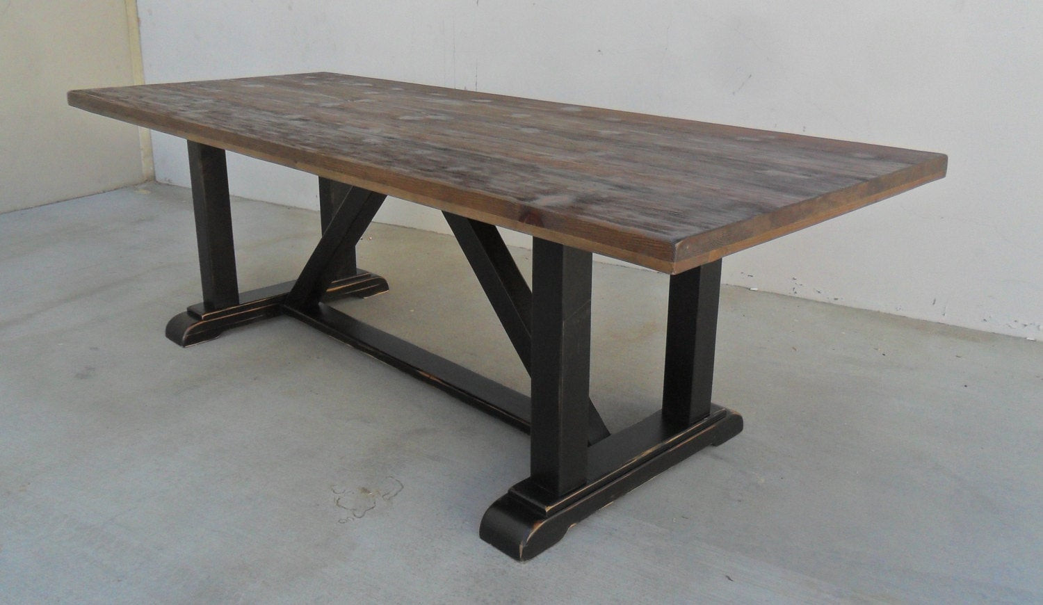Best ideas about Trestle Dining Table . Save or Pin Dining Table Reclaimed Wood Trestle Table Rustic Now.