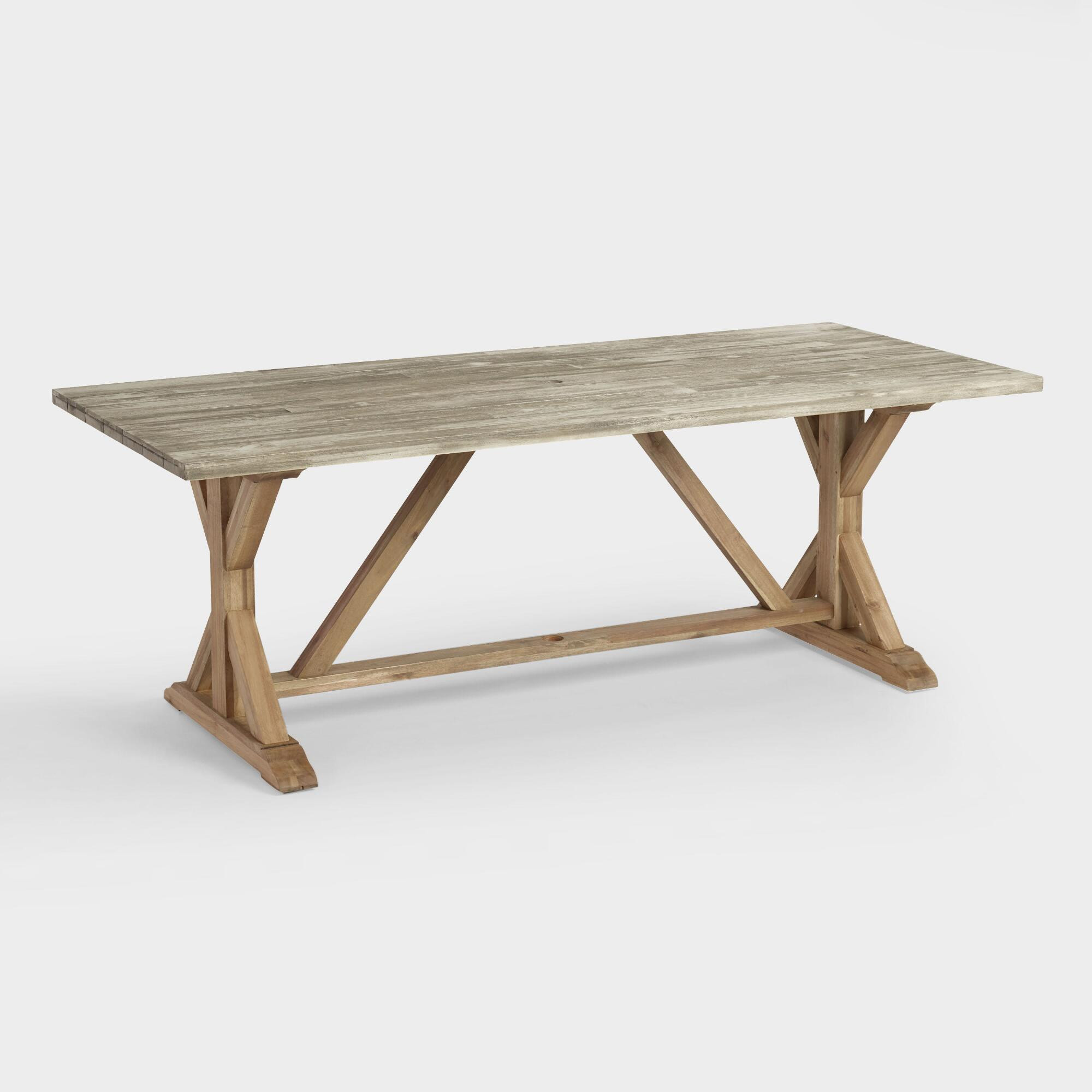Best ideas about Trestle Dining Table . Save or Pin Two Tone Wood San Remo Trestle Dining Table Now.