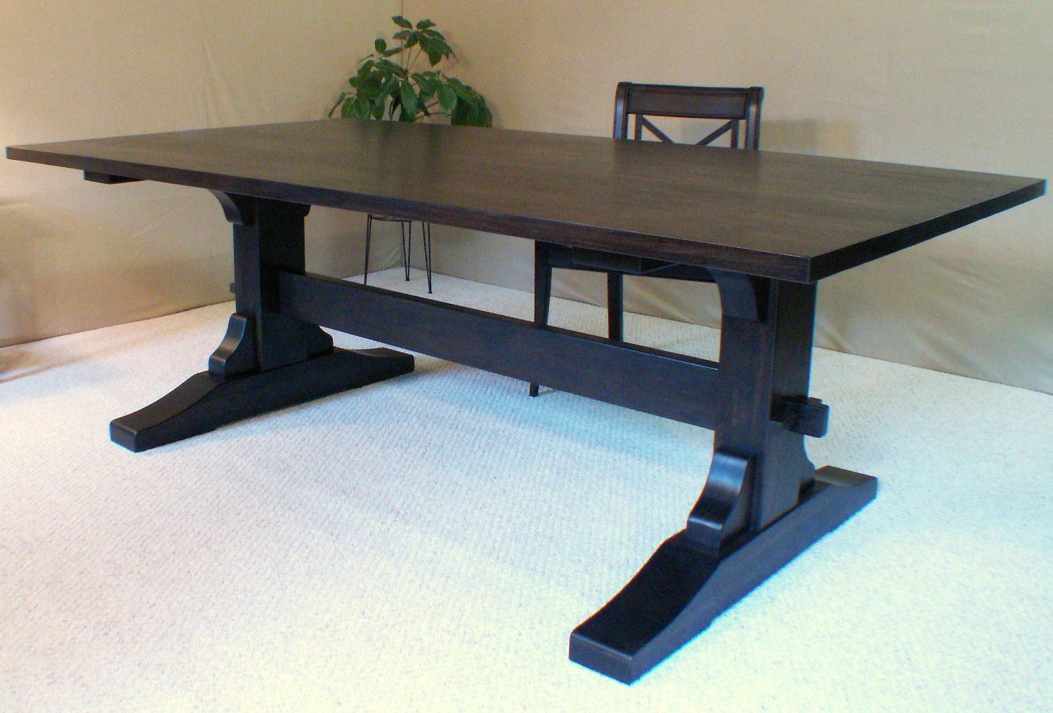 Best ideas about Trestle Dining Table . Save or Pin Wood Dining Table Trestle Table Black Walnut Made in Vermont Now.