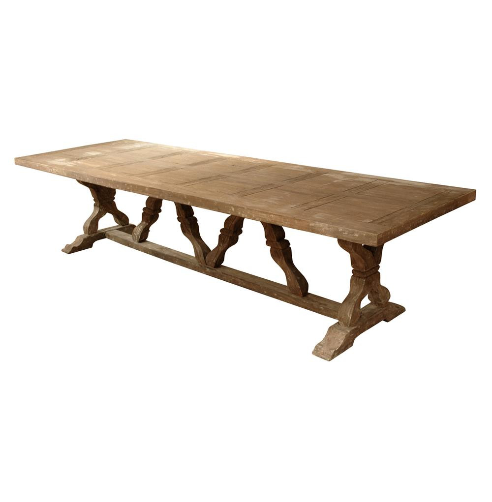 Best ideas about Trestle Dining Table . Save or Pin Linley Heavy Distress Farm House 14 Person Trestle Dining Now.