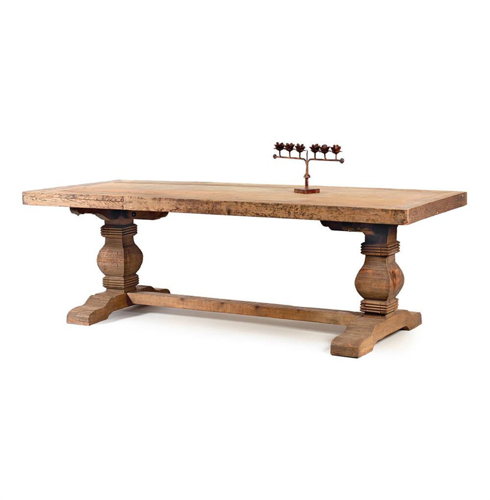 Best ideas about Trestle Dining Table . Save or Pin Rustic Solid Teak Wood Trestle Dining Table Now.