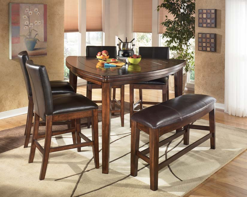 Best ideas about Triangle Dining Table . Save or Pin DINING ROOM ASHLEY LARCHMONT TRIANGLE DARK WOOD TABLE Now.
