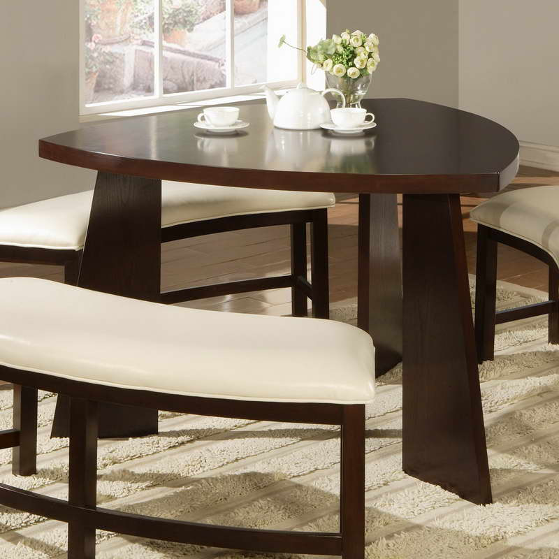 Best ideas about Triangle Dining Table . Save or Pin Furniture Triangle Shaped Tables With Flower Decoration Now.