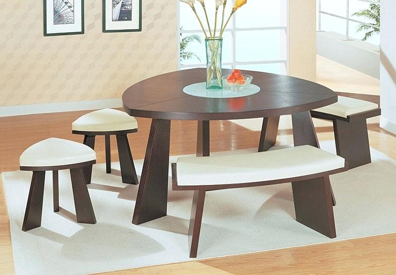Best ideas about Triangle Dining Table . Save or Pin Triangle Dining Table With Bench Intended Triangle Kitchen Now.