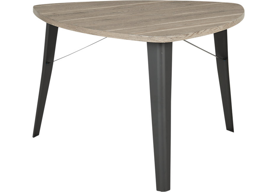 Best ideas about Triangle Dining Table . Save or Pin Evander Gray Triangle Dining Table Dining Tables Colors Now.