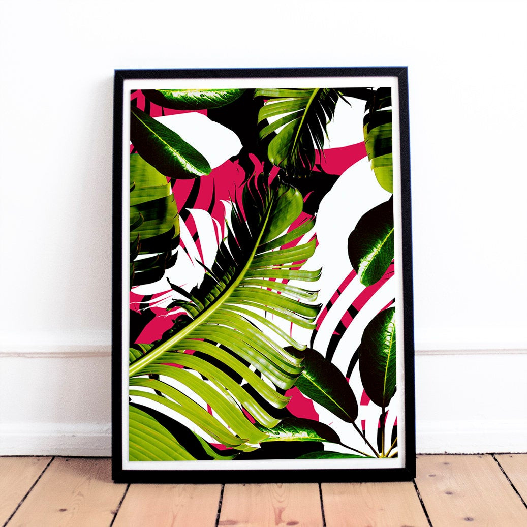 Best ideas about Tropical Wall Art . Save or Pin Plant Leaf Print Wall Art Decor Tropical Printable Now.