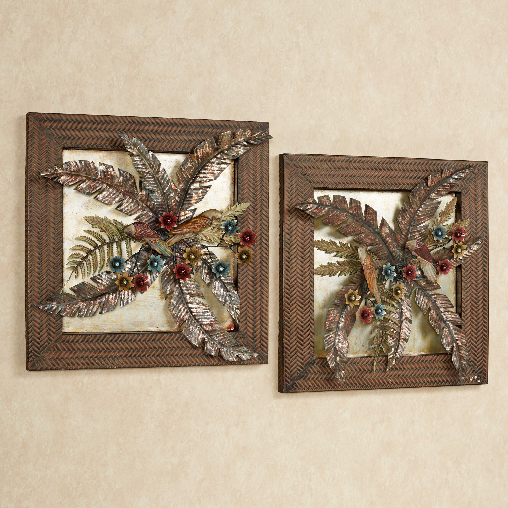 Best ideas about Tropical Wall Art . Save or Pin Tropical Gardens Metal Wall Art Set Now.