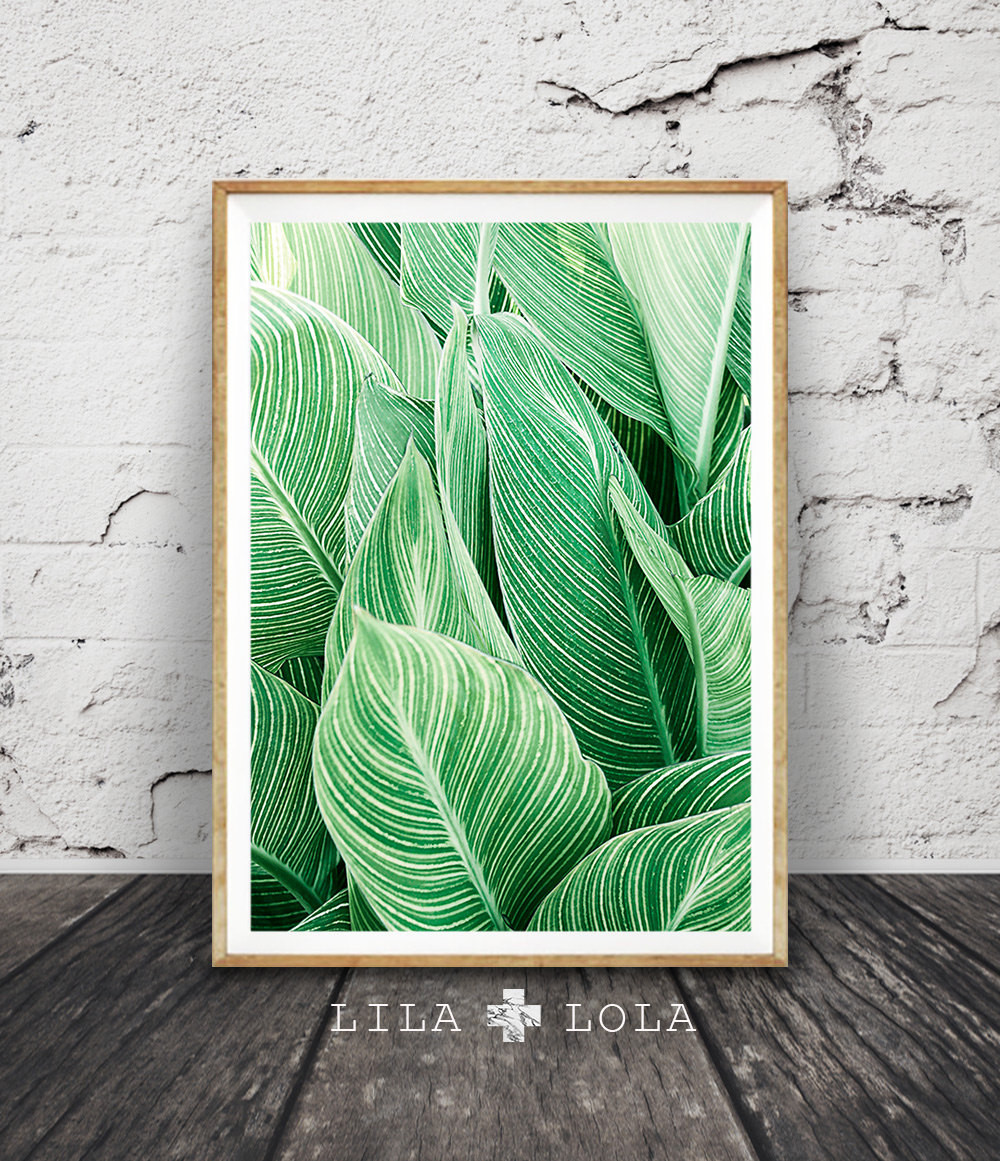 Best ideas about Tropical Wall Art . Save or Pin Leaf Wall Art Print Tropical Plant Printable Now.