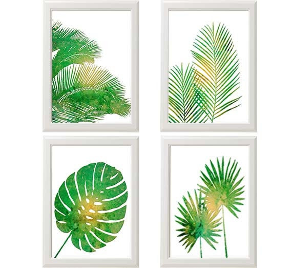 Best ideas about Tropical Wall Art . Save or Pin Tropical Palm Print Set Green Wall Art Tropical Wall Art Now.