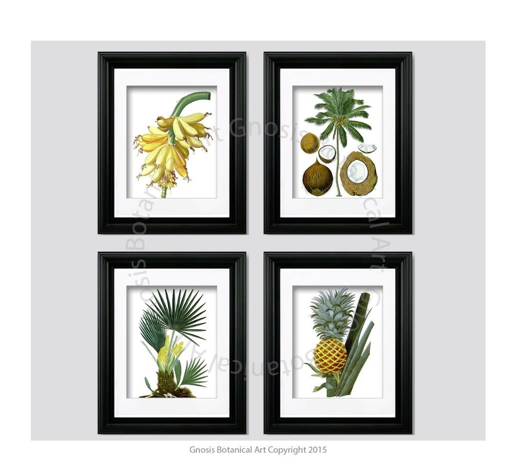 Best ideas about Tropical Wall Art . Save or Pin Tropical Wall Decor Unframed Wall Art Pineapple Coconut Now.