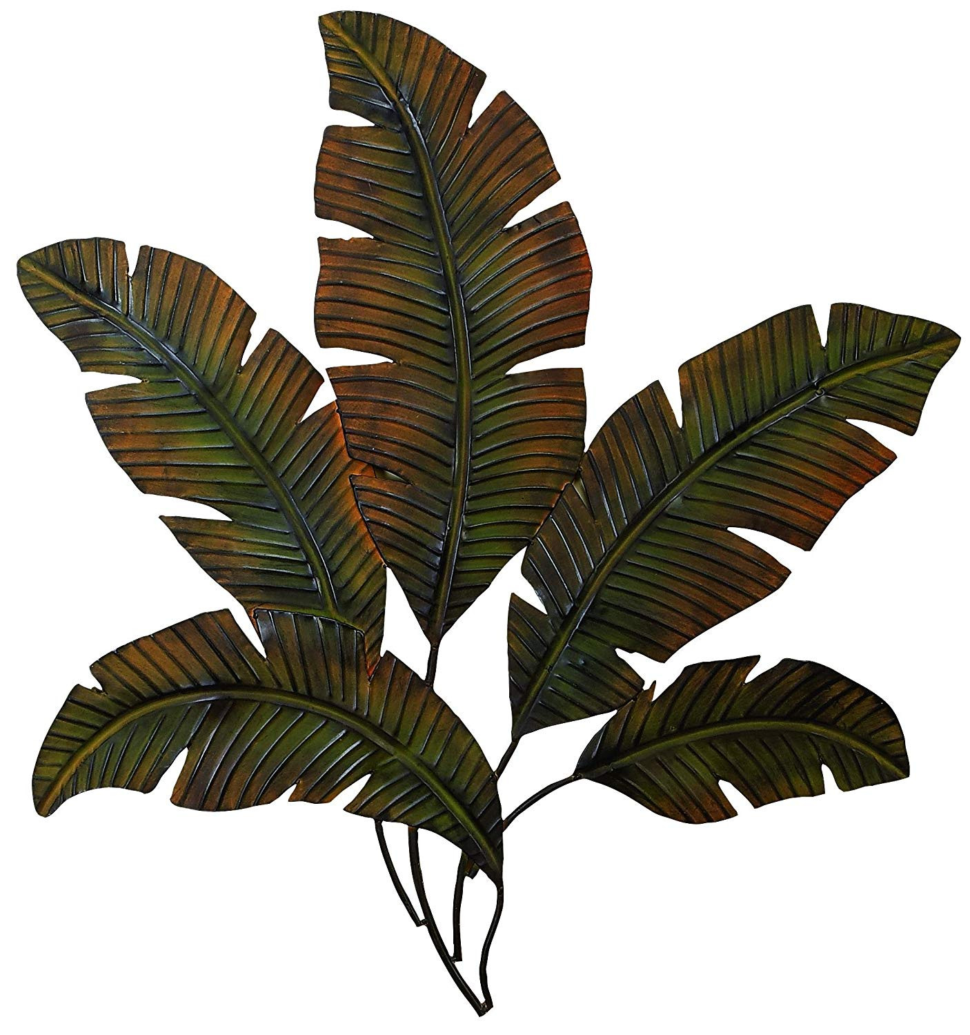 Best ideas about Tropical Wall Art . Save or Pin Metal Palm Tree Leaves Wall Art Decor Tropical Indoor Now.