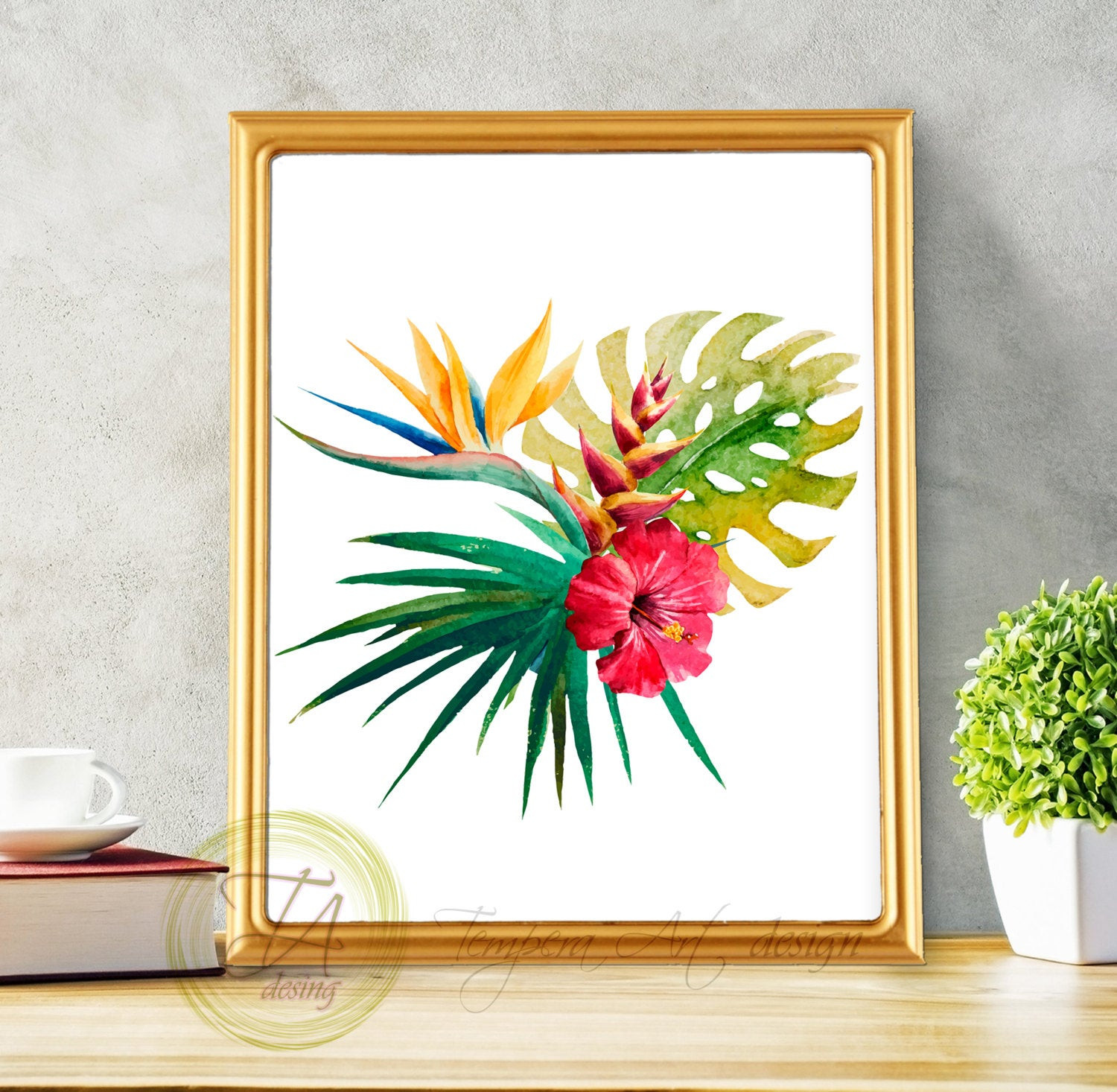 Best ideas about Tropical Wall Art . Save or Pin Tropical Botanical Wall Art Modern Home Decor Tropical Wall Now.