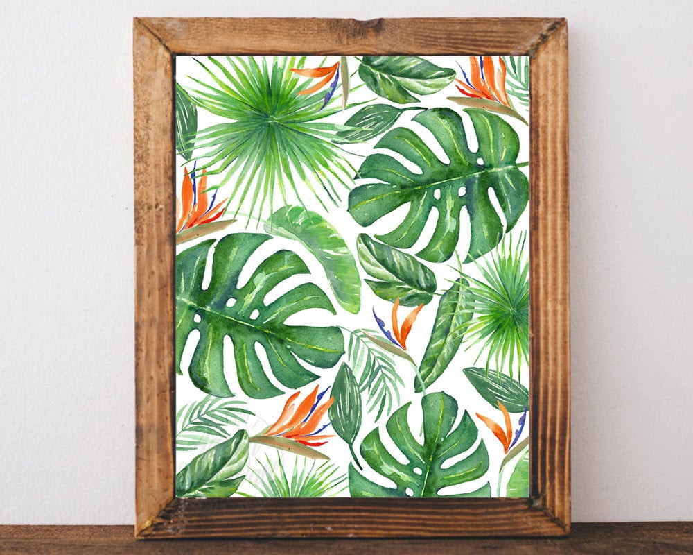 Best ideas about Tropical Wall Art . Save or Pin Tropical print decor wall art printable art tropical art Now.
