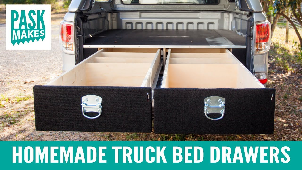 Best ideas about Truck Bed Organizer DIY . Save or Pin Homemade Truck Bed Drawers Now.