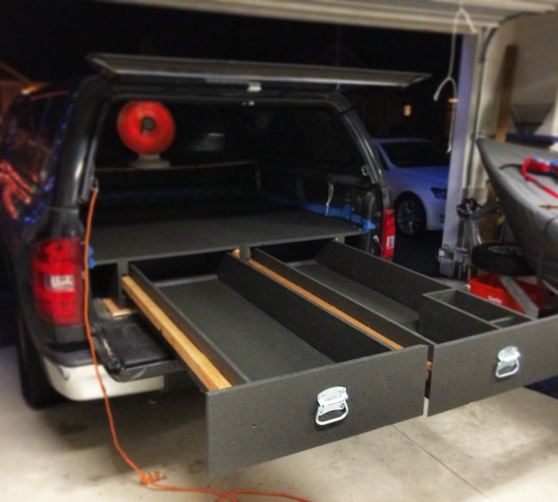Best ideas about Truck Bed Organizer DIY . Save or Pin DIY truck bed storage system … Projects to Try Now.