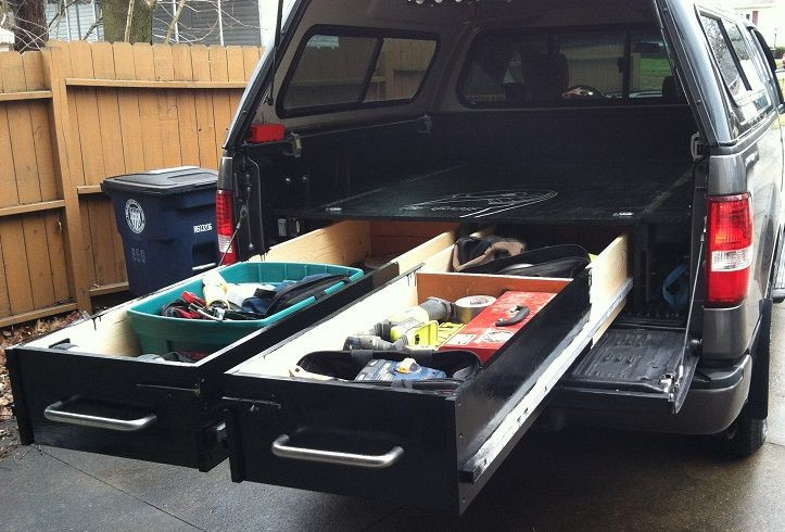 Best ideas about Truck Bed Organizer DIY . Save or Pin Build Drawers in Your Truck Bed for Heavy Duty Tool Now.