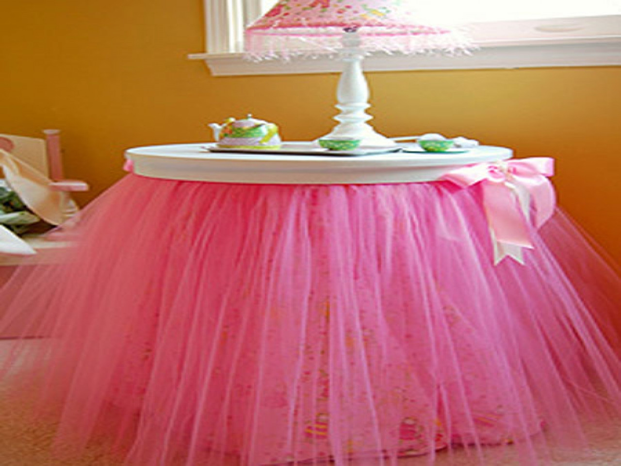 Best ideas about Tulle Table Skirt DIY . Save or Pin Design tips for small spaces tulle table skirt tutorial Now.