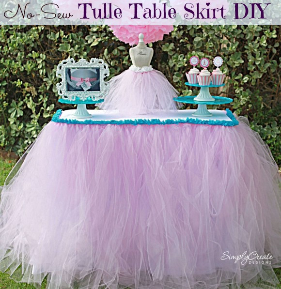 Best ideas about Tulle Table Skirt DIY . Save or Pin No Sew Tulle Table Skirt Now.