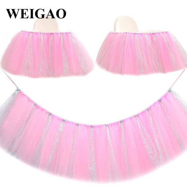 Best ideas about Tulle Table Skirt DIY . Save or Pin WEIGAO 1Pcs Tulle Table Skirt DIY Tutu Tableware Skirt For Now.
