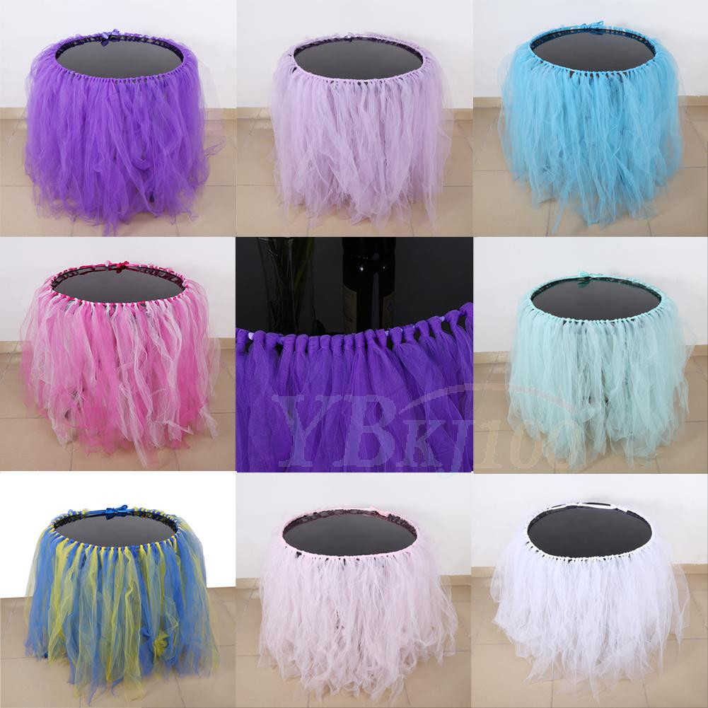Best ideas about Tulle Table Skirt DIY . Save or Pin DIY Tulle Table Skirt For Wedding Birthday Baby Shower Now.
