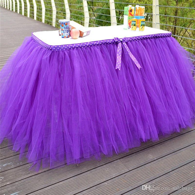 Best ideas about Tulle Table Skirt DIY . Save or Pin Hot Selling Diy Tulle Tutu Table Skirt For Wedding Now.
