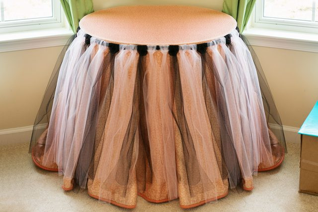 Best ideas about Tulle Table Skirt DIY . Save or Pin DIY Tulle Table Skirt with Now.