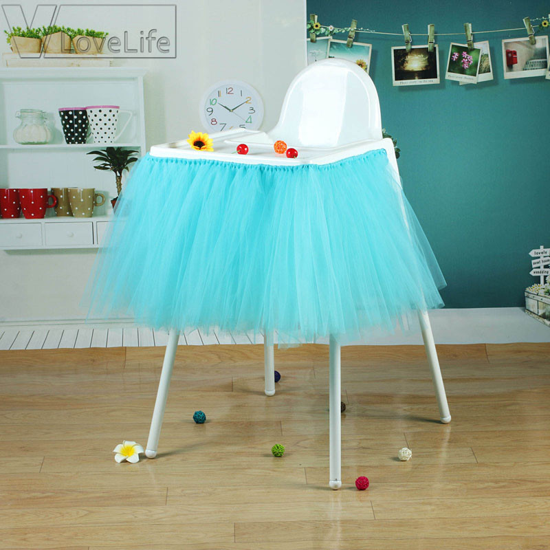 Best ideas about Tulle Table Skirt DIY . Save or Pin Turquoise Tutu Skirt Tulle Chair Skirts Baby Shower Boy Now.