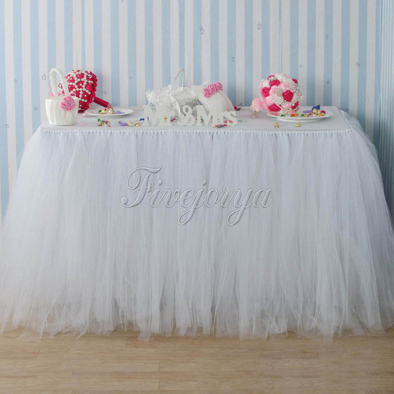 Best ideas about Tulle Table Skirt DIY . Save or Pin Handmade White Color Tulle TUTU Table Skirt 100cm x 80cm Now.