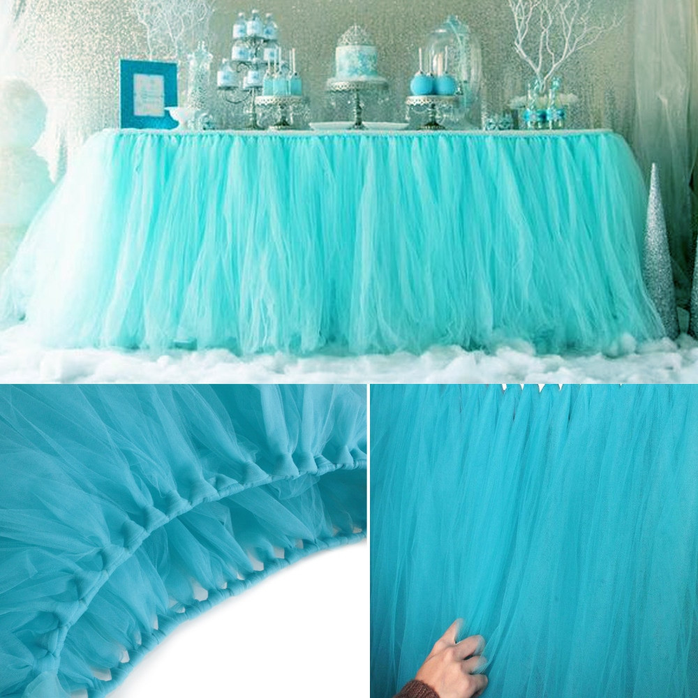 Best ideas about Tulle Table Skirt DIY . Save or Pin 5pcs Lot 100 80cm DIY Tulle Tutu Table Skirt Tulle Baby Now.